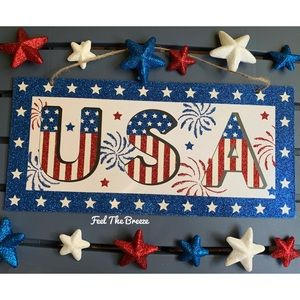 Other - Patriotic USA 4th of July Wall Home Decor